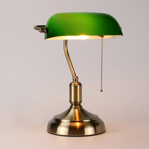 Vintage Bankers Lamp in Green - Staunton and Henry