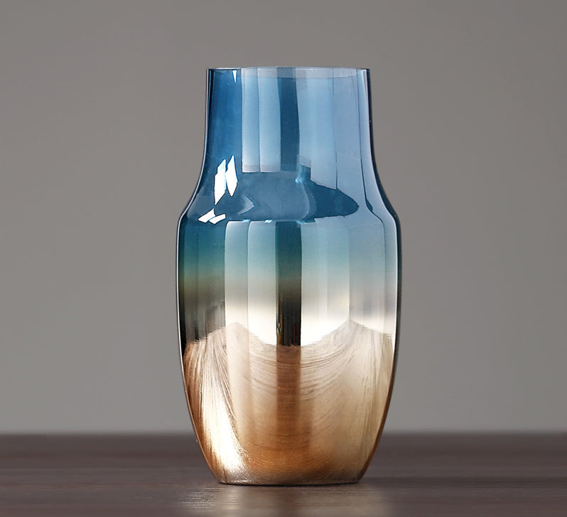 Blue and Bronze Glass Vase - Staunton and Henry