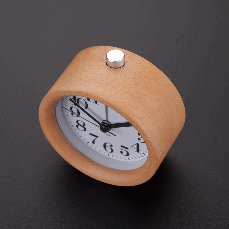 Modern Classic Alarm Clock with Beech Wood Frame - Staunton and Henry