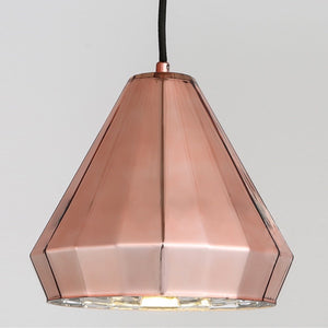 Geometric Copper Pendant Light