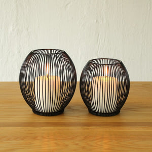 Black Cage Lantern Candle Holder - Staunton and Henry