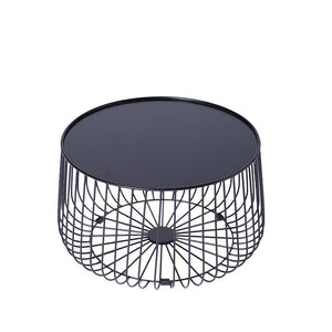 Round Metal Frame Coffee Table