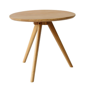 Oak Wood Tripod Side Table - Staunton and Henry