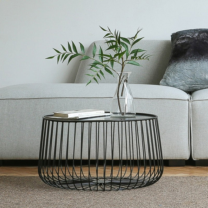 Round Metal Frame Coffee Table - Staunton and Henry