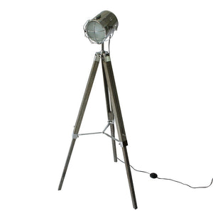 Wood Tripod Spotlight Floorlamp - Staunton and Henry