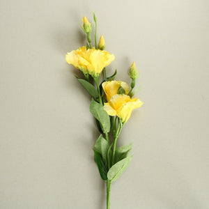 Yellow Rose Silk Flowers - Set of 3 Stems