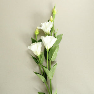 White Rose Silk Flowers Stem
