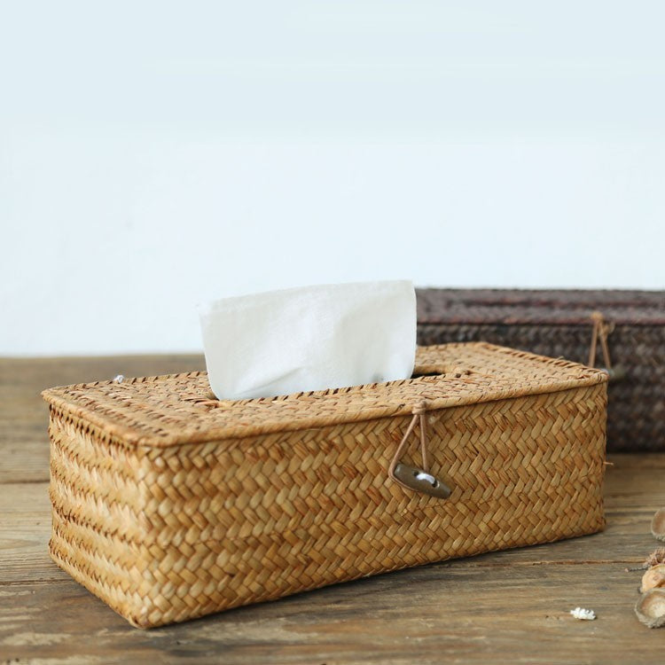 Rattan Tissue Box Cover - Staunton and Henry