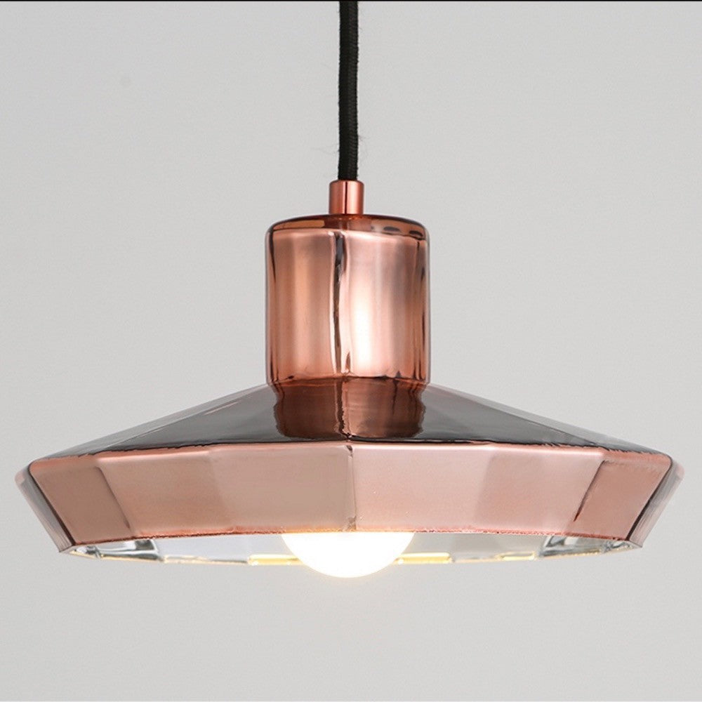 Buy geometric copper pendant lights at 20 off staunton and henry ceramic copper pendant light mozeypictures Choice Image