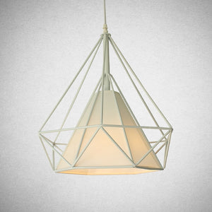 Modern Geometric Pendant Light - White - Staunton and Henry