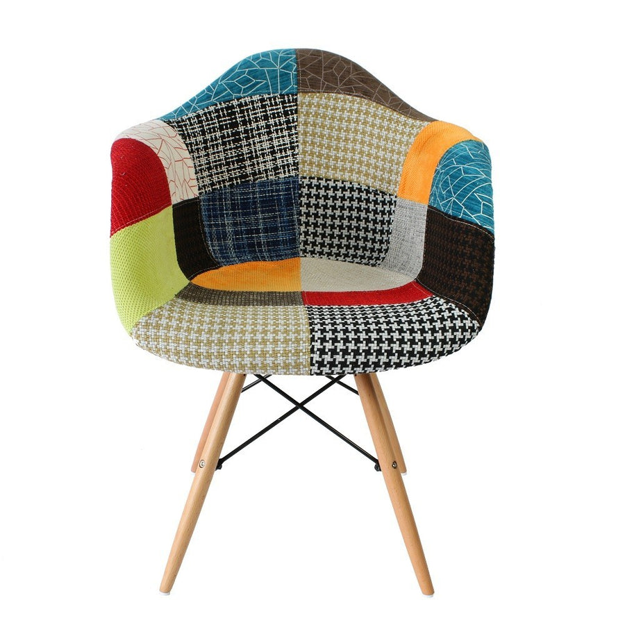 Eames DAW Style Chair - Patchwork Fabric - Staunton and Henry