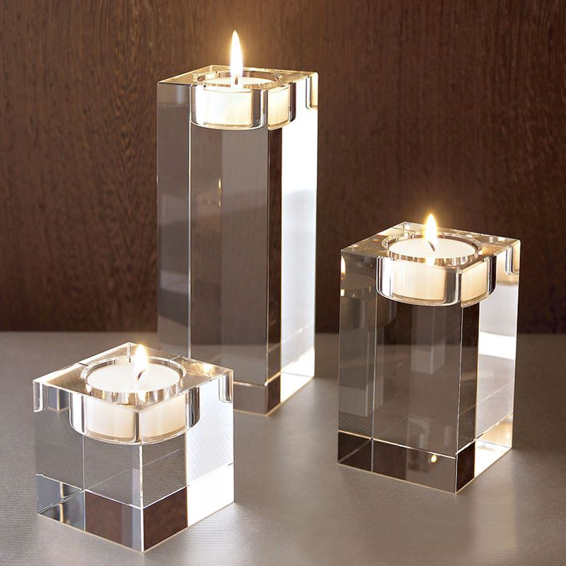 Cubik Glass Candle Holders - Staunton and Henry