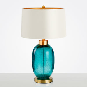 Elegant Blue Glass Table Lamp