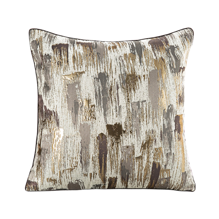 Gold and Grey Abstract Throw Cushion - Staunton and Henry