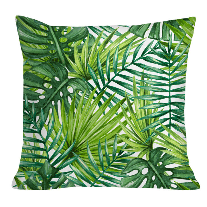 Tropical Green Throw Cushion - Staunton and Henry