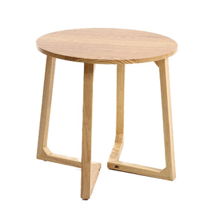 Oak Wood Round Side Table - Staunton and Henry