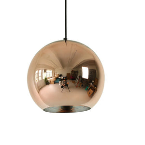 Tom Dixon Style Copper Shade Pendant Light
