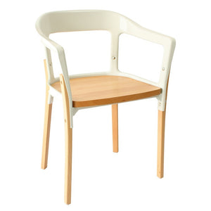 Steelwood Style Chair - White