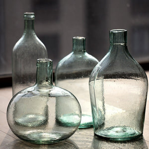 Vintage Glass Bottle Vases