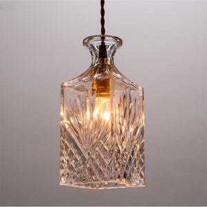 Vintage Bottle Pendant Light