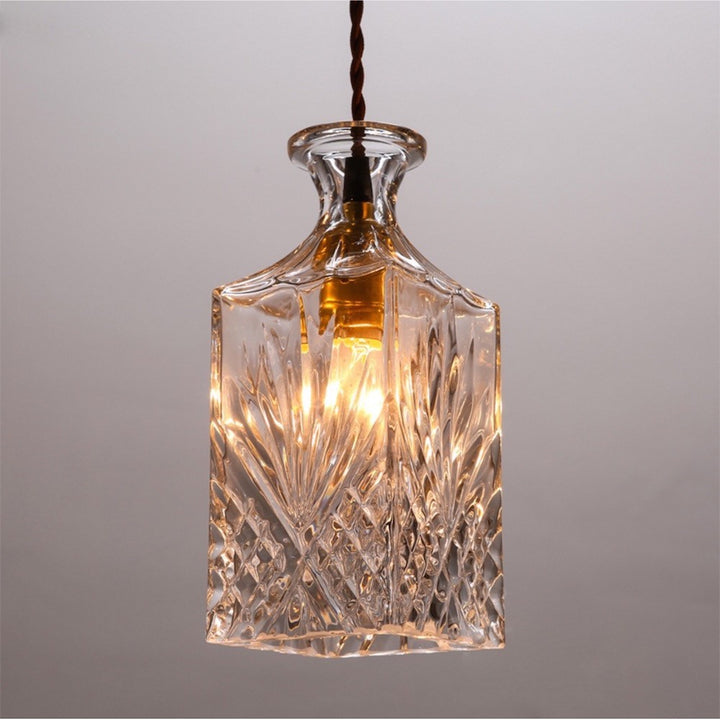 Vintage Bottle Pendant Light - Staunton and Henry