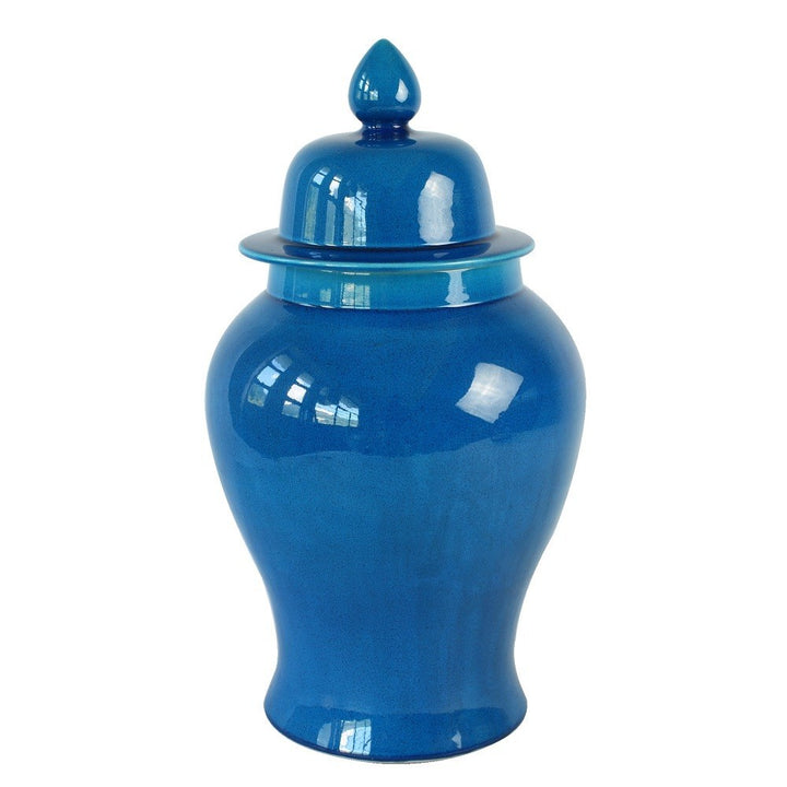 Blue Ceramic Chinese Urn - Staunton and Henry