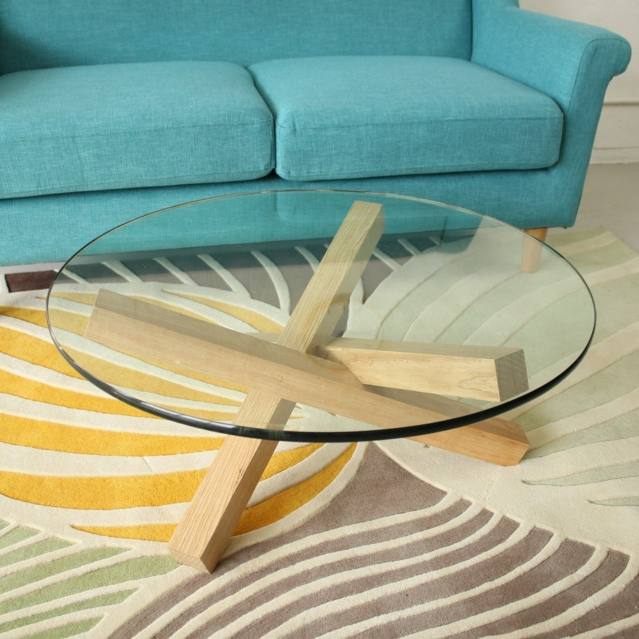 Solid Wood & Glass Coffee Table - Staunton and Henry