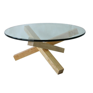 Solid Wood & Glass Coffee Table