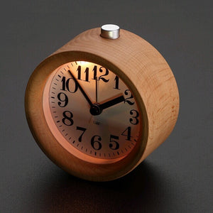 Modern Classic Alarm Clock with Beech Wood Frame