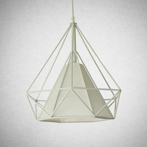 Modern Geometric Pendant Light - White