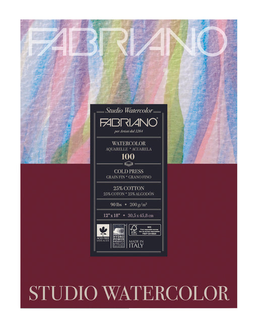 Fabriano Studio Cold Press Watercolour Pad - 90lbs (4443924037719)