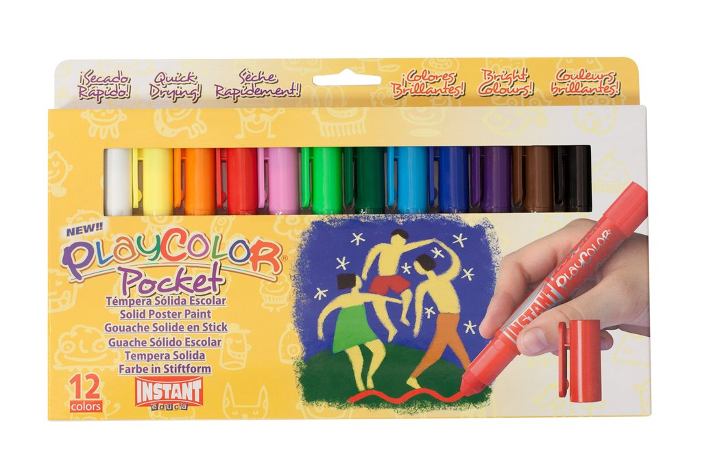 Jack Richeson - PlayColor Solid Tempera Poster Paint Sticks - Set of 12
