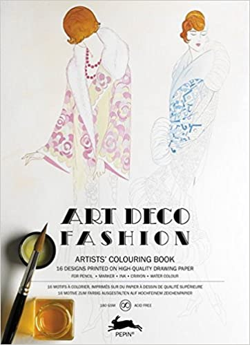 Pepin - Art Deco Fashion - 16 designs/pgs per book - 98079 (4441986564183)