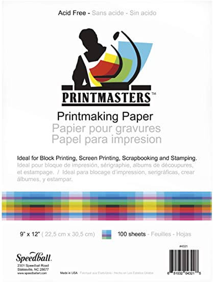 Speedball - Printmaster® Paper - White - 50 sheets (4548320657495)