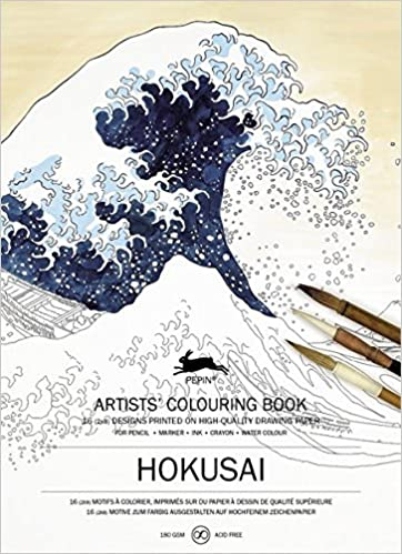 Pepin - Hokusai - 16 designs/pages per book - 98154 (4441986957399)