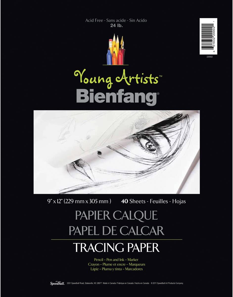"Speedball - Young Artists Tracing Paper Pad (24 lb) White / 9""x12"" / 40 sheets (4548321837143)"