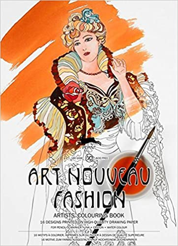 Pepin - Art Nouveau Fashion - 16 designs/pages per book - 98093 (4441986662487)