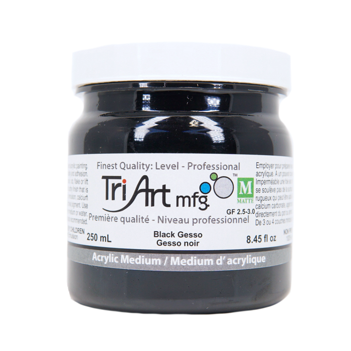 Tri-Art Mediums - Black Gesso (4438796730455)