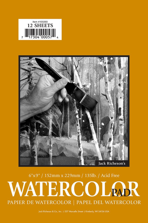 "Jack Richeson - 135# Cold Pressed Watercolour Pad - 6x9"" (4546967044183)"