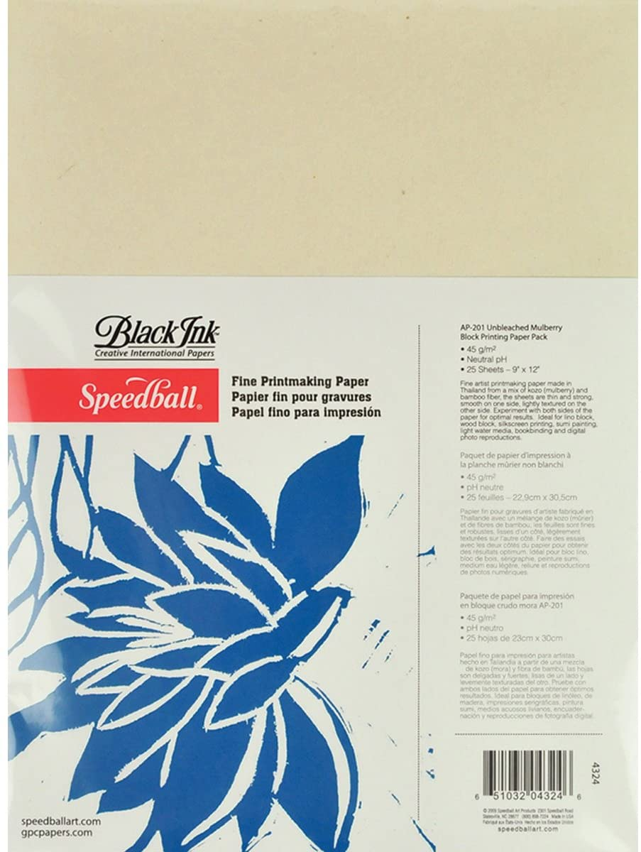 "Speedball - Mulberry Paper Natural / 9""x12"" / 25 sheets (4548320428119)"