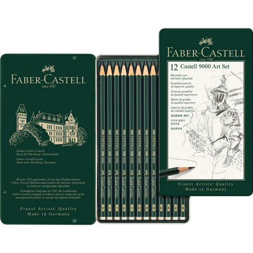 Faber-Castell - CASTELL 9000 Pencil - set of 12 (4438862299223)