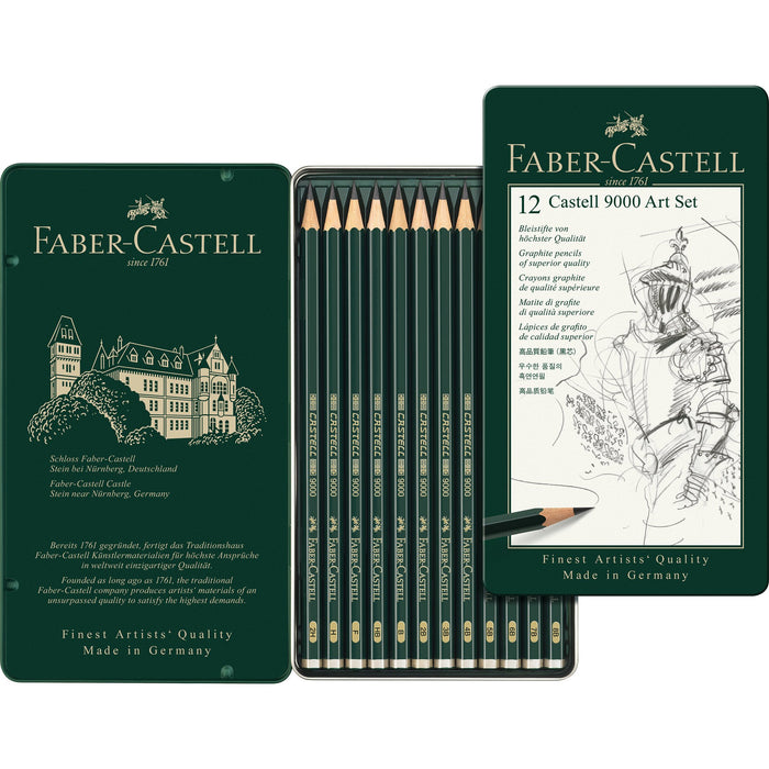 Faber-Castell - CASTELL 9000 Pencil - set of 12