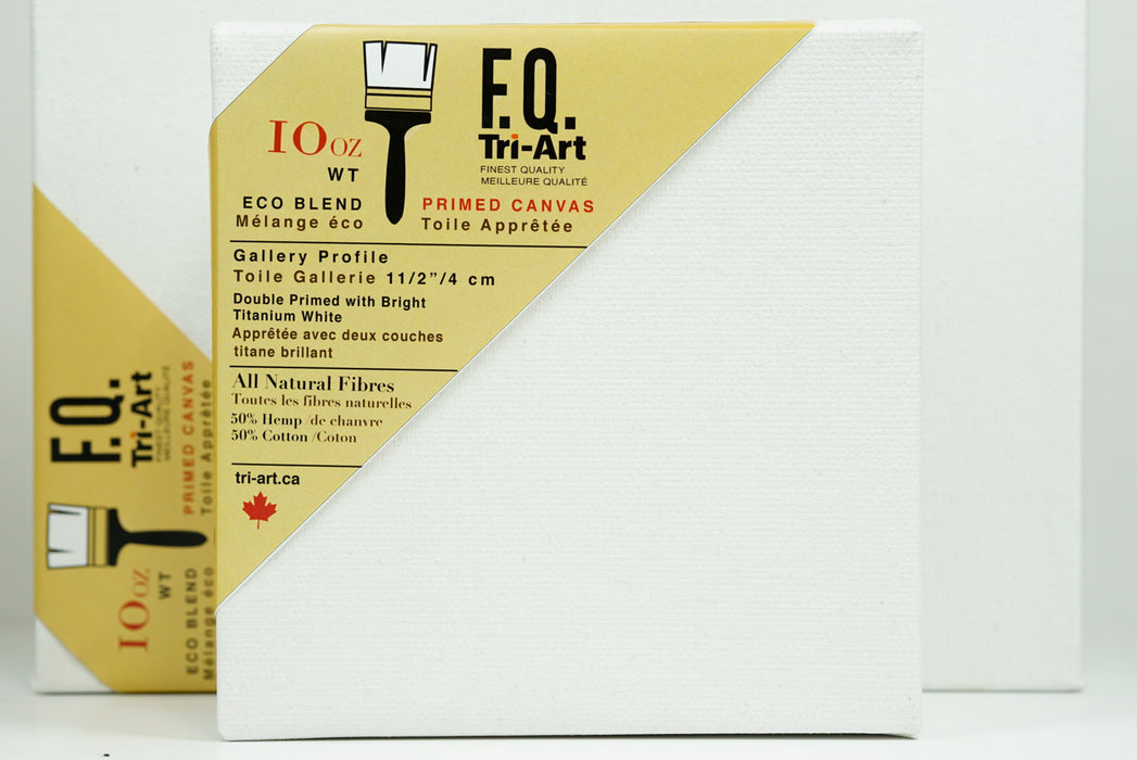 "Tri-Art FQ Stretched Canvas - Artist Gallery 1 1/2"" Profile Primed - 12x24"""