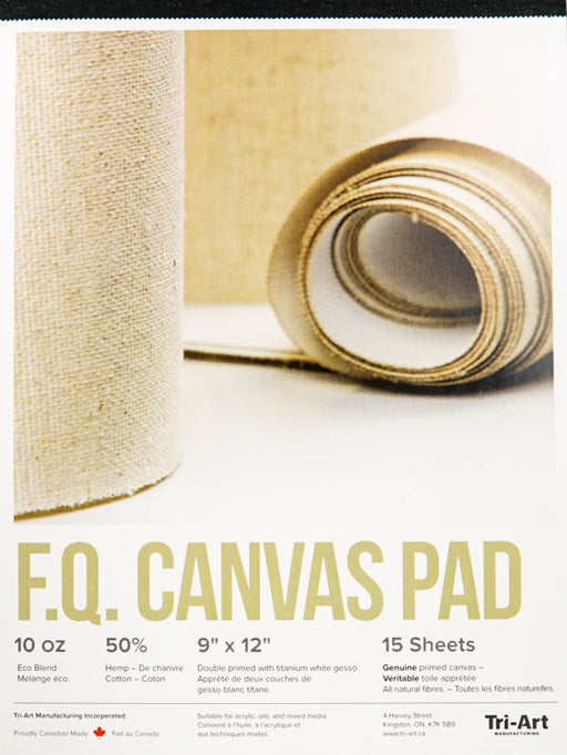 Tri-Art FQ Canvas Pad 9x11 15 sheets (4600645484631)