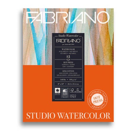 Fabriano - Studio Watercolour Pad - Hot Press  - 140lbs (4551005175895)