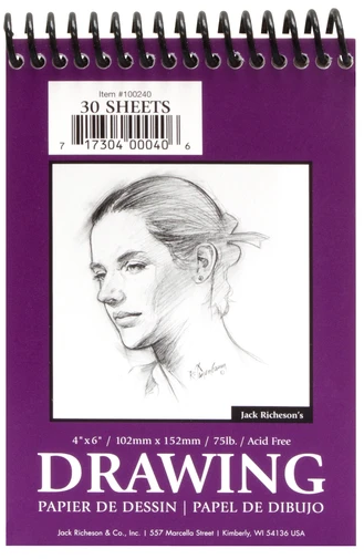 Jack Richeson Drawing Pad 75lb - 30 Sheet - Multiple Sizes (4437198569559)