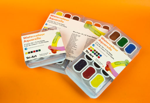 Tri-Art - Finest Quality Watercolours - Pan Sets (4520843706455)