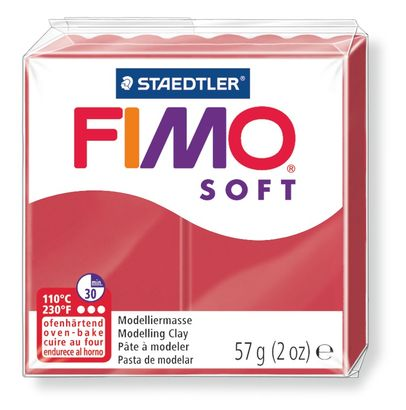 Staedtler-Mars - Modelling Clay Fimo Soft - Cherry Red (4443466498135)