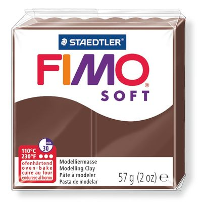 Staedtler-Mars - Modelling Clay Fimo Soft - Chocolate (4443466530903)