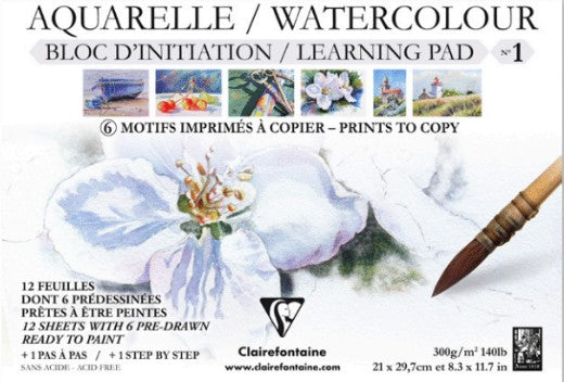 Clairefontaine - Watercolour Learning Pad - No.1 (4633146556503)